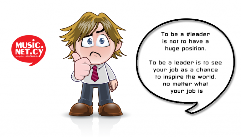 To be a #leader…